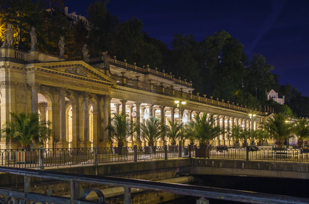 colonnade: The Mill Colonnade is a large colonnade containing several hot springs in the spa town of Karlovy Vary.The Mill Colonnade is supported by 124 columns. Evening Editorial