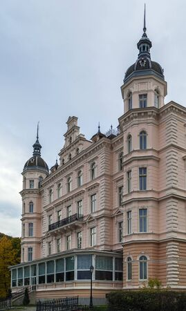 karlovy vary: building of hotel in Karlovy Vary, Czech republic Editorial