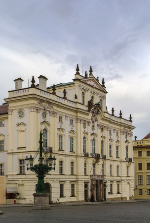 archbishop: The Archbishop palace was originally built in the Renaissance style though later it was rebuilt in the Baroque style, Prague, Czech republic