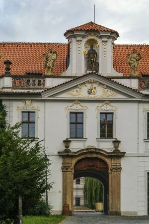 Strahov Monastery  is a Premonstratensian abbey founded in 1143, Prague, Czech republic