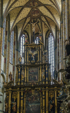 snows: altar of Church of Our Lady of the Snows, Prague