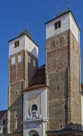 saxony: St Nicholas Church in Freiberg, Saxony, Germany Stock Photo