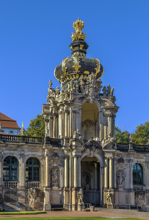 rococo: The Zwinger is a palace in Rococo style in Dresden, Saxony,Germany. Crown gate