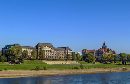 ministry: view of treasury building (now the Ministry of Finance of Saxony) and The Sachsische Staatskanzlei (Saxon State Chancellery), Dresden, Germany
