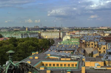 isaac: View of Saint Petersburg with Palace Square from Isaac cathedral, Russia