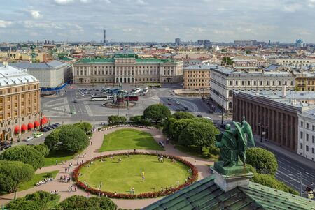 isaac: View Saint Isaac Square with Mariinsky Palace from St. Isaac Cathedral, Saint Petersburg, Russia Editorial