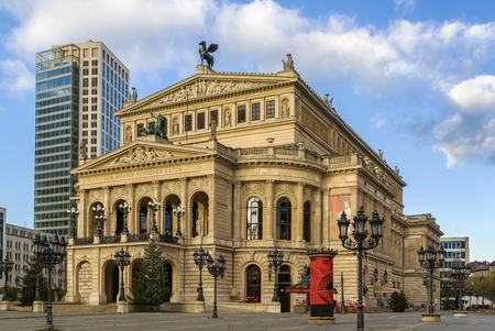 oper: The original opera house in Frankfurt is now the Alte Oper (Old Opera), a concert hall and former opera house in Frankfurt am Main, Germany.