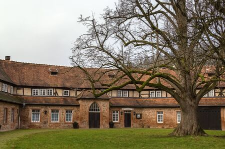 12th century: Budingan castle conducts the history since the 12th century, Germany. Courtyard