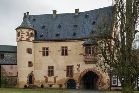 conducts: Budingan castle conducts the history since the 12th century, Germany Editorial