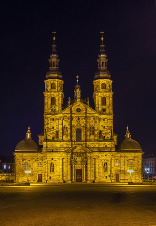 Fulda Cathedral of Christ the Saviour at evening, Germany