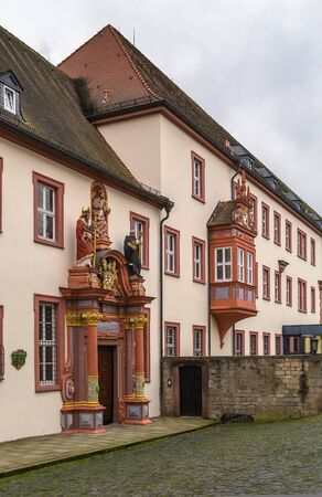 theology: building of Episcopal Seminary in Fulda with decoration portal, Germany