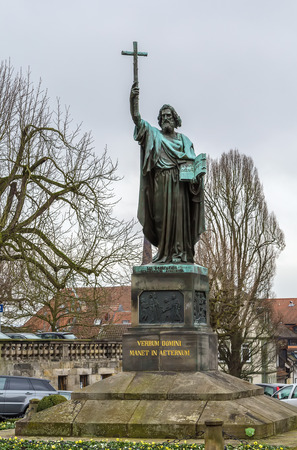 Saint Boniface statue in Fulda, Hesse, Germany