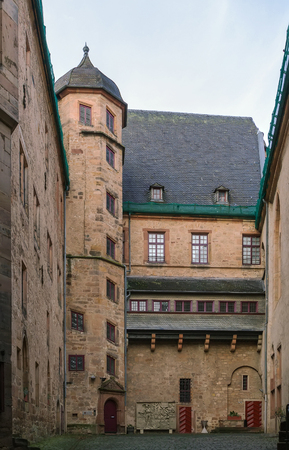 11th century: Marburg castle, Germany. Built in the 11th century as a fort. Courtyard