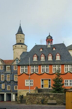 rathaus: Town Hall (Rathaus) from 1698 in Idstein, Germany