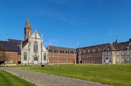 Tongerlo Abbey is a Premonstratensian monastery at Tongerlo in Westerlo near Antwerp, Belgium Reklamní fotografie - 58214513