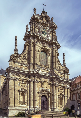 characterized: Saint Michaels Church in Leuven is considered to be the main Jesuit church in Belgium. The impressive facade in pure baroque style is characterized as the altar outside the church