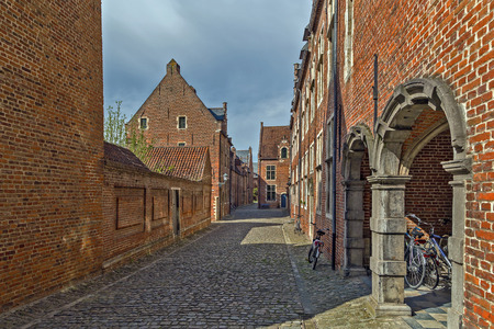 leuven: The Grand Beguinage of Leuven is a well preserved and completely restored historical quarter containing a dozen of streets in the south of downtown Leuven.Belgium Editorial