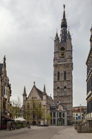 belfry: The 91-metre-tall belfry of Ghent is  tallest belfry in Belgium Editorial
