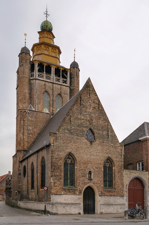 returned: The Jerusalem Church (Jeruzalemkerk) in Bruges is a unique chapel built in 1428 by a rich pilgrim recently returned from Jerusalem.Belgium