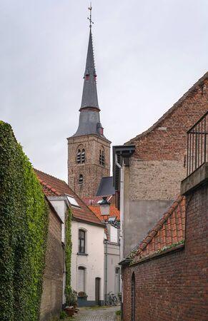 bruges: street in Bruges historic center, Belgium
