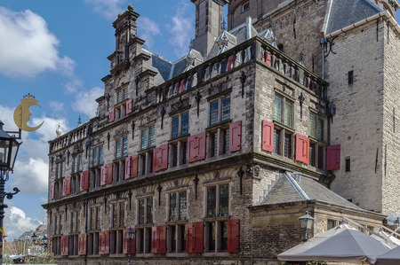 delft: The City Hall in Delft is a Renaissance style building on the Markt,  Netherlands
