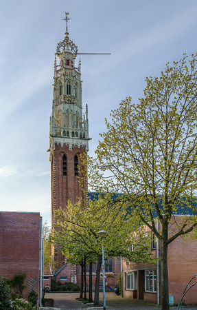 The Bakenesserkerk is a former church and seat of the local archeological workgroup in Haarlem, Netherlands Stock Photo