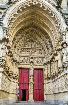 puertas antiguas: Catedral de Amiens es una catedral católica. La catedral fue construida entre 1220 y c.1270 y ha sido clasificado como desde 1981, Francia. Portal