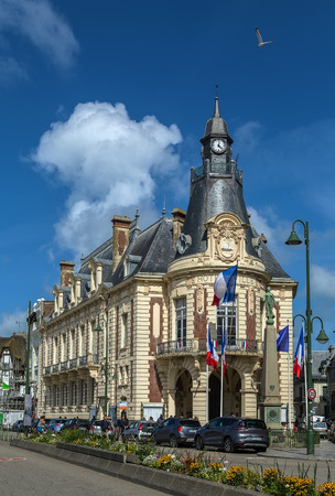 normandy: Town hall of Trouville-sur-Mer, Normandy, France Stock Photo