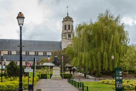 leonard: The St. Leonard church is a Catholic church located in Honfleur, France Stock Photo
