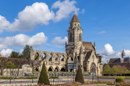 Church St. Etienne-le-Vieux (Old St. Stephens), Caen, France Stock Photo