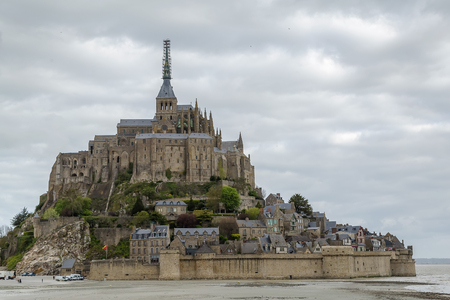 mont: view of Mont Saint-Michel, France