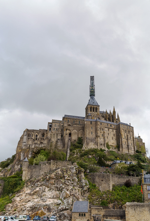 mont: view of Mont Saint-Michel, Normandy, France