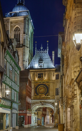The Great-Clock (French: Gros-Horloge) is a fourteenth-century astronomical clock in Rouen, Normandy, Evening