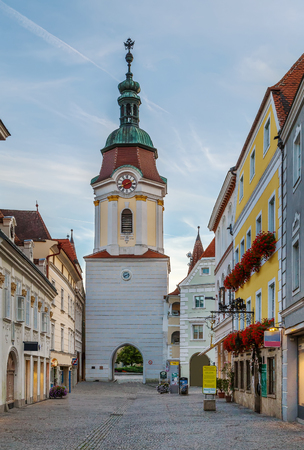 Steiner Tor is a-preserved gate, originally built in the late 15th century but refashioned in the Baroque style in the city of Krems an der Donau, in the Wachau valley of Austria.