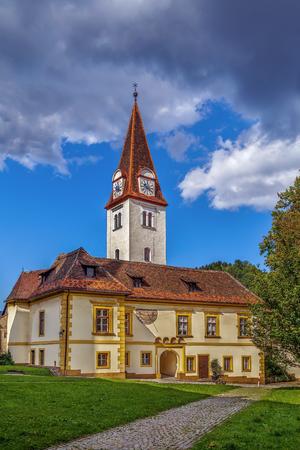benedictine: Goss Abbey is a former Benedictine nunnery in Leoben, Styria, Austria.