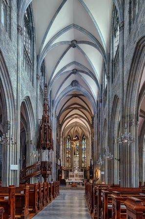 neogothic: Admont Abbey Church is one of the first neo-gothic sacred buildings in Austria. Interior Editorial