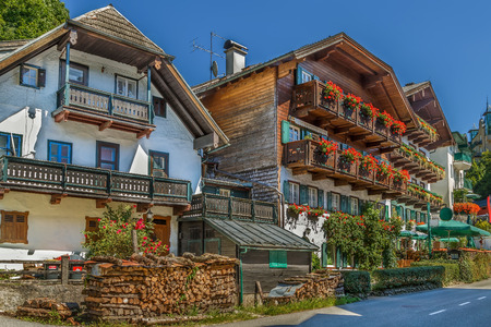 wolfgang: Decoration houses in st. Wolfgang,  Austria