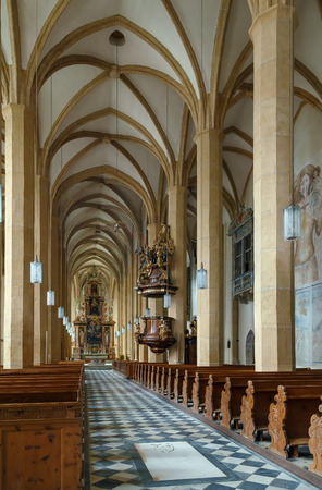 benedictine: St. Lambrechts Abbey is a Benedictine monastery in Styria, Austria. Interior of Gothic abbey church