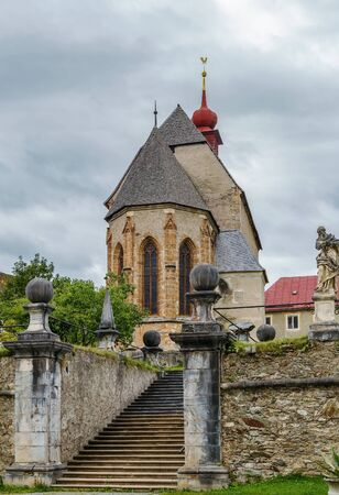 St. Lambrechts Abbey is a Benedictine monastery in Styria, Austria. St. Peter church Stock Photo