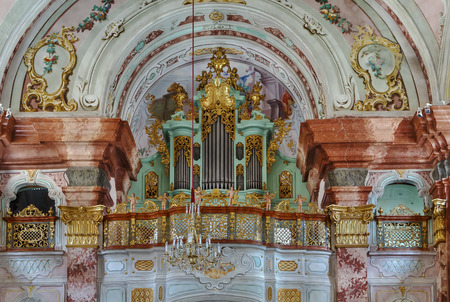 Rein Abbey is a Cistercian monastery in Styria, in Austria. It is the oldest surviving Cistercian community in the world. Interior of Abbey church, organ