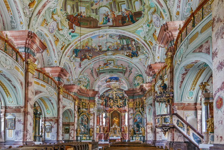 surviving: Rein Abbey is a Cistercian monastery in Styria, in Austria. It is the oldest surviving Cistercian community in the world. Interior of Abbey church.