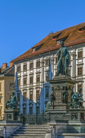 Monument dedicated to Archduke Johann on main square in Graz, Austria
