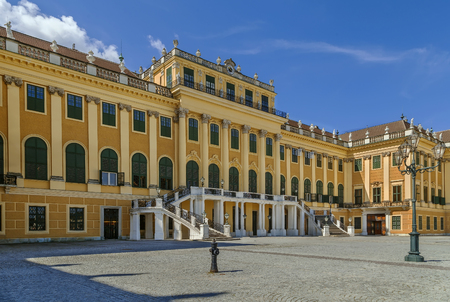 Schonbrunn Palace is a former imperial Rococo summer residence in Vienna, Austria. Editorial
