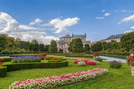 innere: The Volksgarten (Peoples Garden) is a public park in Vienna city center, Austria