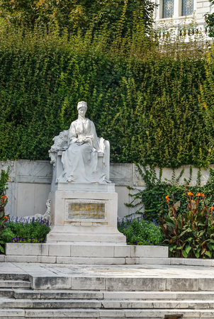 Monument to Empress Elisabeth in Viennas Volksgarten, Austria Stock Photo