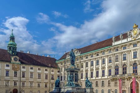 Monument To Emperor Franz 1 in front of Amalienburg in Hofburg Palace, Vienna, Austria