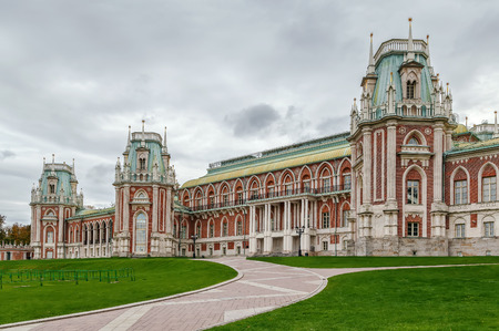 The grand palace in Tsaritsyno park, Moscow, Russia