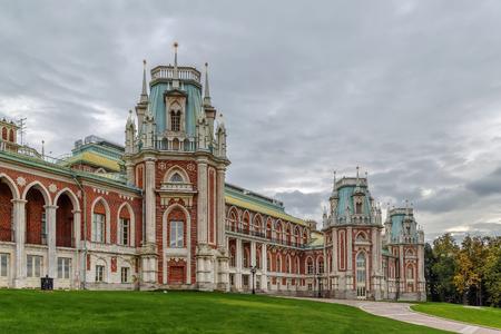 tsaritsyno: The grand palace in Tsaritsyno park, Moscow, Russia