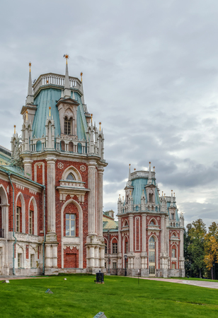 palacio ruso: The grand palace in Tsaritsyno park, Moscow, Russia