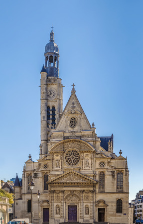Saint Etienne du Mont is a church in Paris, France. It contains the shrine of St. Genevieve, the patron saint of Paris.